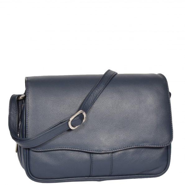 Womens Leather Classic Organiser Bag Matilda Blue