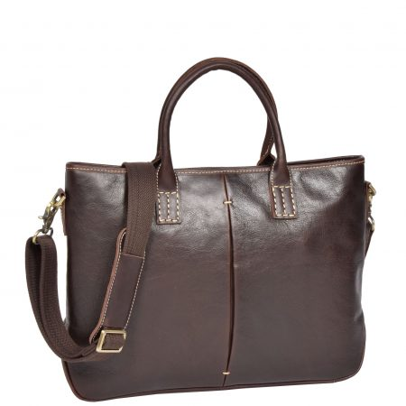 Womens Leather Cross Body Handbag H8099 Brown