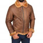 Men's B3 Sheepskin Vintage Jacket Tan