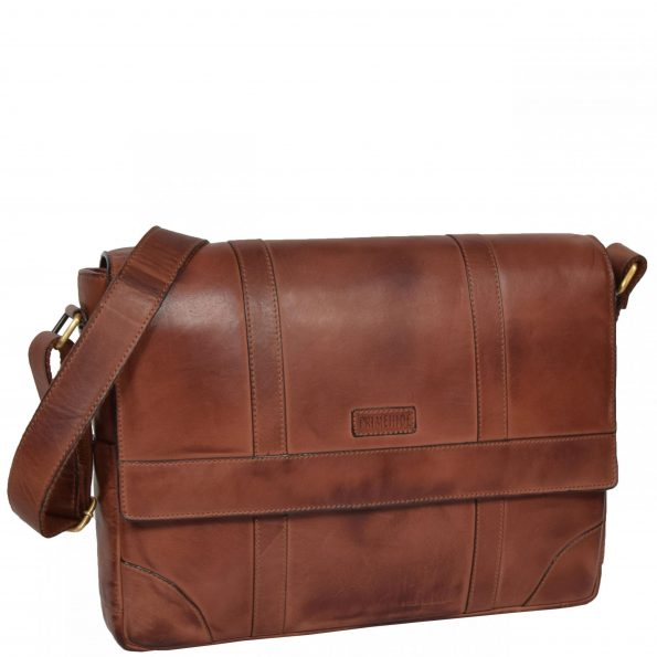 Mens Leather Vintage Cross Body Bag