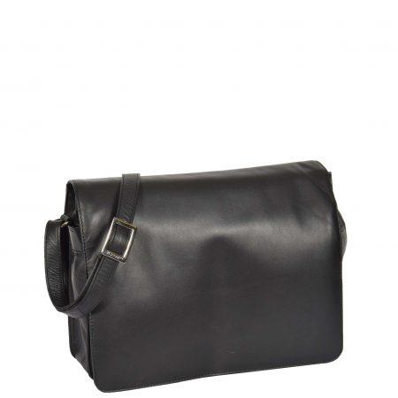 Womens Leather Cross Body Bag Puerto Rico Black