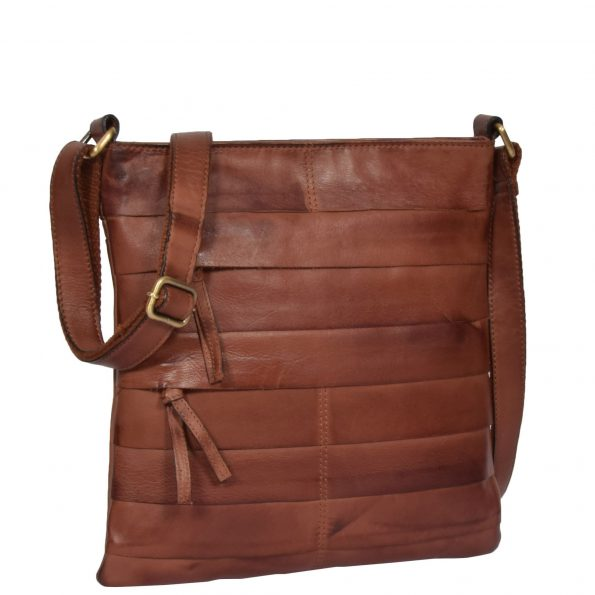 Vintage Leather Cross Body Pouch Rosie Tan