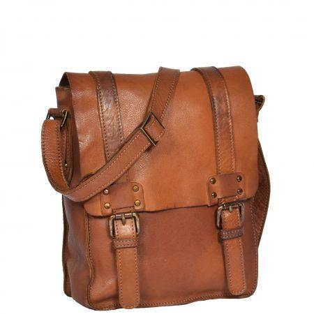 Mens Leather Organiser Flight Bag HOL995 Tan