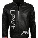 Angels and Airwaves Love Tom Delonge Black Biker Leather Jacket