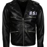 BSA George Micheal Faith Revenge Rockers Black Biker Leather Jacket