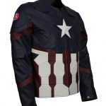 Captain America Endgame Infinity Avengers Blue Leather Jacket Costume