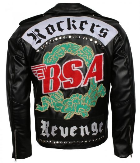 George Michael BSA Faith Rockers Revenge Black Faux Leather Jacket