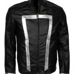 Ghost Rider Agents of Shield Faux Black Biker Leather Jacket