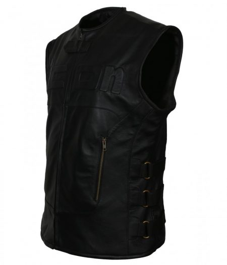 Icon Skull D30 Regulator Biker Black Tactical Biker Faux Leather Vest