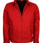 James Dean Rebel Without A Cause Men Red Cotton Jacket Summer