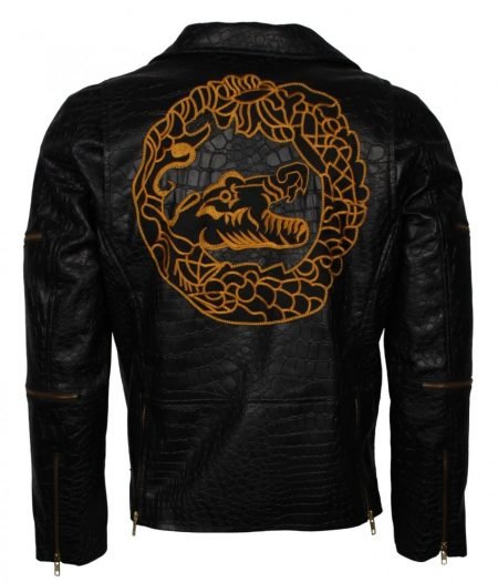 Men's Killer Croc Suicide Squad Waylon Jones Black Faux Leather Jacket