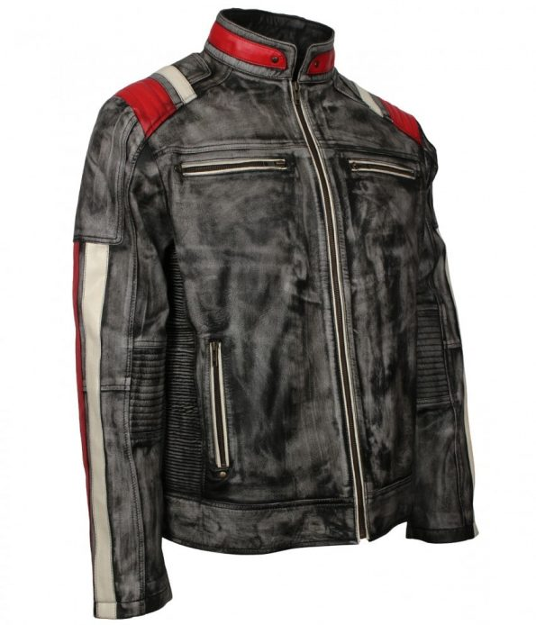 Men-Biker-Retro-3-Distressed-Grey-Waxed-Striped-Leather-Motorcycle-Jacket-fast-ship.jpg