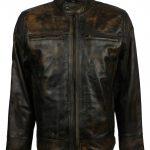 Mens Best Rusty Black Distressed Vintage Real Biker Leather Jacket
