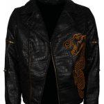Men's Killer Croc Suicide Squad Waylon Jones Black Faux Leather Jacket