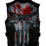 The Punisher Season 2 John Bernthal Black Tactical Biker Leather Vest