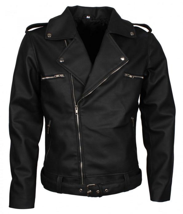 The Walking Dead Negan Boda Biker Black Motorcycle Leather Jacket