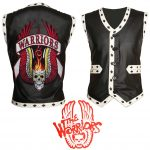 The Warriors Movie Coney Island Black Leather Biker Vest