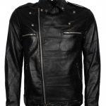 The Walking Dead Negan Biker Men Black Motorcycle Leather Jacket