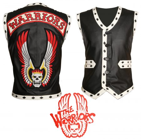 Men The Warriors Movie Black Eagle Biker Faux Leather Vest