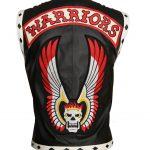 Men The Warriors Movie Black Eagle Biker Faux Leather Vest