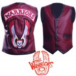 Men The Warriors Movie Maroon Eagle Biker Faux Leather Vest