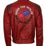 Mens Akira Kaneda Capsule Health Red Cause Faux Leather Jacket Biker Jacket