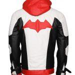 The Batman Arkham Knighs White And Black Faux Leather Jacket Plus Vest