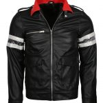 Alex Merca Prototype Stripe Black Gaming Leather Jacket
