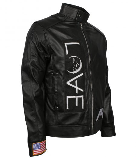 Angel and Airwaves Tom Delonge Embroidered Black Leather Jacket france