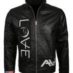 Angel and Airwaves Tom Delonge Embroidered Black Leather Jacket france