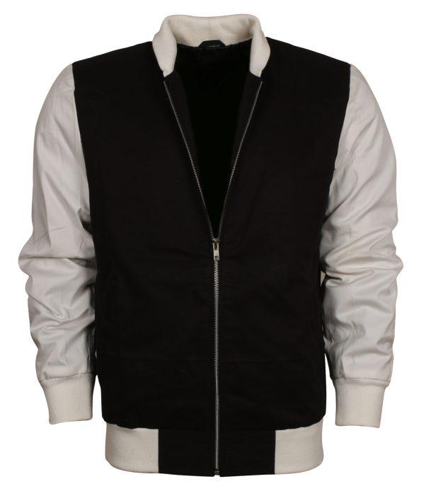 Ansel Elgort Baby Driver Men Varsity Leather Jacket costume