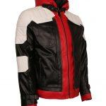 Batman Arkham Knight Hooded Red White Black Men Leather Jacket Costume Avengers End Game