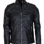 Batman Beyond Cosplay Black Biker Leather Jacket