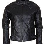 DD Dare devil Matt  Murdock  Black Mens  Leather Jacket  Cosplay Costume