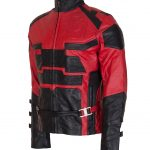 DD Dare devil Matt  Murdock  Black Mens  Leather Jacket  Costume