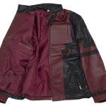 Deadpool Maroon Men Super Hero Leather Jacket