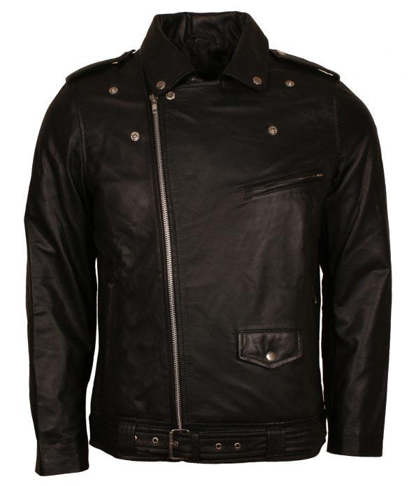 Elvis Brando Classic Men Biker Leather Jacket