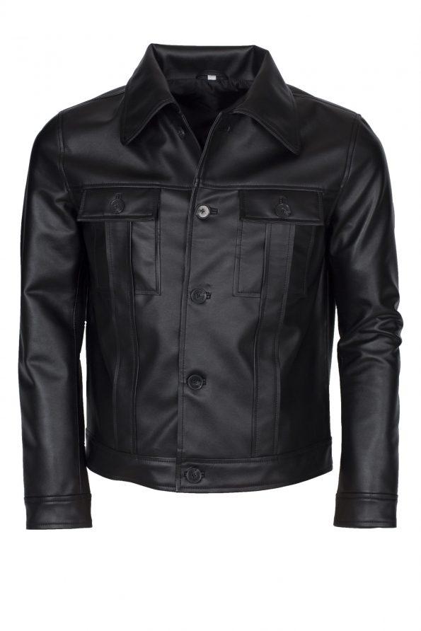 Elvis Presley Black Rockstart Leather Jacket