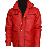 Elvis Presley Celebrity Red Vintage Leather Jacket for Mens