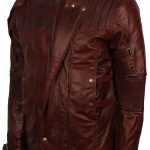 Guardian Of Galaxy II Maroon Leather Jacket