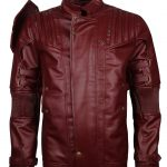 Guardian Of Galaxy Maroon Star Lord Leather Jacket Costume