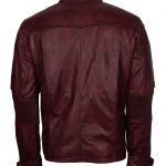 Guardians of The Galaxy Star Lord Red Maroon Men Biker Leather Jacket Cosplay Costume