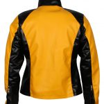 Infamous II Gaming Yellow Leather Jacket