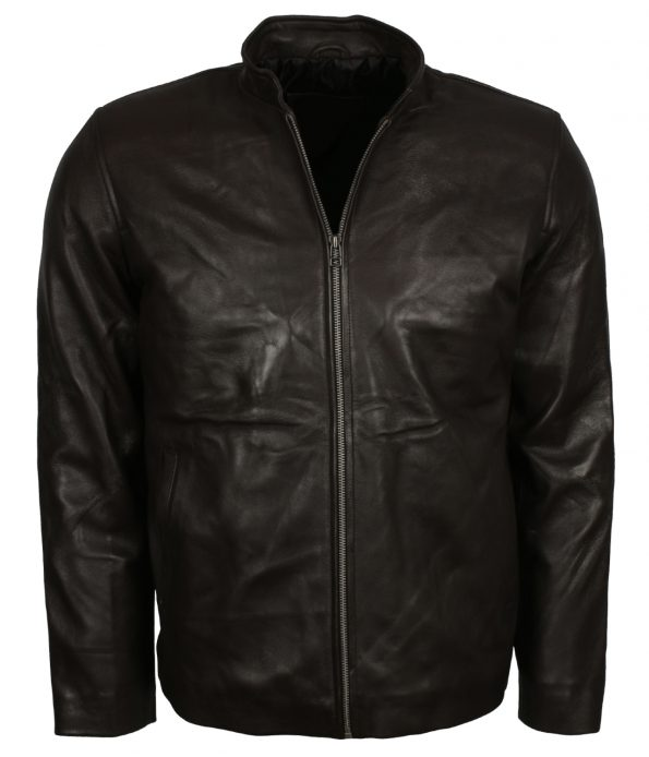 Men Black Designer Custom Leather Motorcyle Jacket