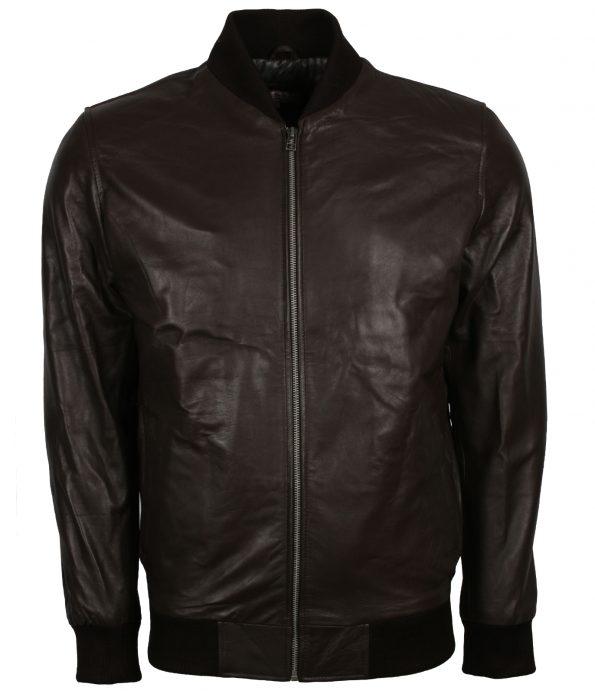 Men Black Designer Leather Motorcyle Jacket