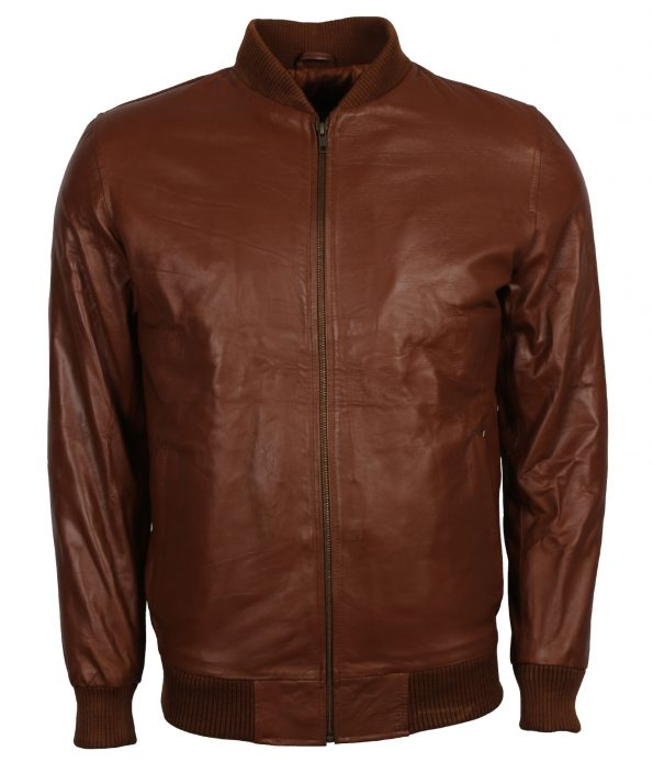 Men Brown Designer Leather Motorcyle Jacket