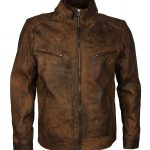 Men's Classic Jungle Distressed Leather Jacket