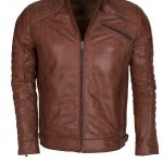 Men Classic Marlon Brando Leather Jacket