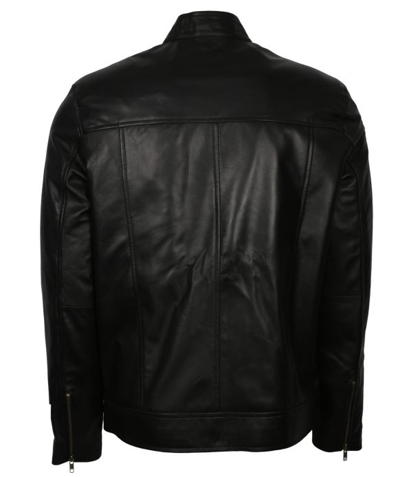 Men Designer Bomber Black Real Leather Biker Jacket france