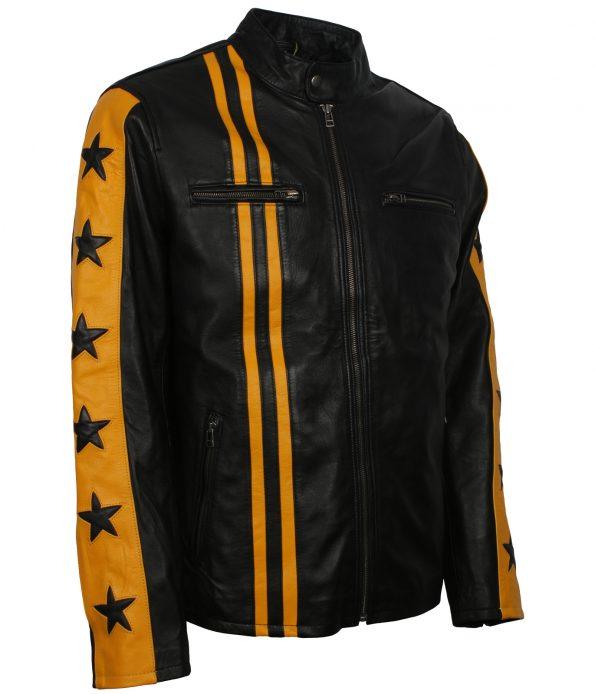 smzk_3005-Men-Driver-San-Francisco-Yellow-Stripe-Black-Biker-Leather-Jacket3.jpg